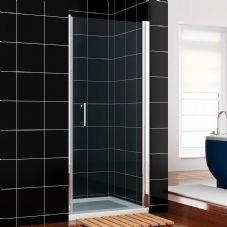 Crown 760mm Frameless Hinged Shower Door